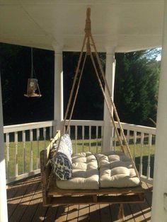 pallet swing bed furniture ideas