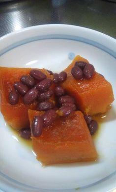 小豆の水煮缶と南瓜のいとこ煮