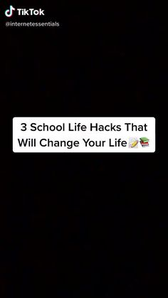 Middle School Hacks, High School Hacks, College Life Hacks, High School Life, Life Hacks For School, School Study Tips, College Tips, School Tips, School Stuff