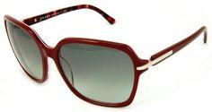 Prada PR 18NS BF63M1 Ruby Red With Grey Gradient Plastic Sunglasses Prada. $159.95