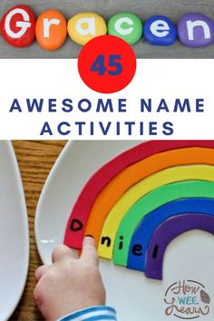 So many awesome name activities and name crafts and name puzzles and name scavenger hunts for kids to try! These letter activities are perfect for preschoolers to start learning the alphabet with.