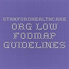 stanfordhealthcare.org - Low FODMAP guidelines