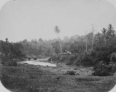 Huis bij een bocht in de rivier Bekasi. Circa 1870