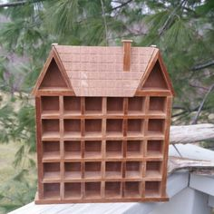 Check out this item in my Etsy shop https://www.etsy.com/listing/505994431/thimble-house-shadow-box-30-holes-cubby