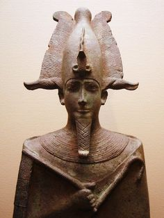 "*EGYPT~""Ancient Egyptian statue of Osiris, lord of the dead, who was assassinated by his brother Seth and resurrected by his sister and wife, Isis. Currently located at the Louvre, Paris. c.305-30 BC"""