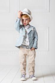 Μένη Ρογκότη - Βαπτιστικά ρούχα για αγόρι της Cat in the hat σετ Eric
