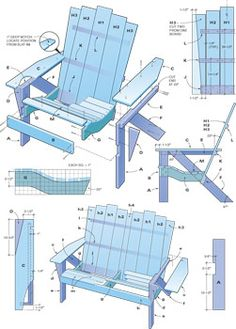 Adirondack chair and loveseat plans