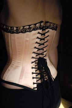 Made in Cranbrook,Canada's corset capital. Who knew.   Victorian Corset, Classic Cameo by LaBelleFairy on Etsy, $399.00