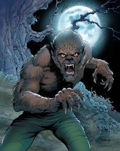 The Classic Marvel Figurine Collection - Werewolf By Night (Issue) Horror Comics, Horror Art, Comic Books Art, Comic Art, Of Wolf And Man, Legendary Monsters, Arte Nerd, Steampunk, Comic Kunst
