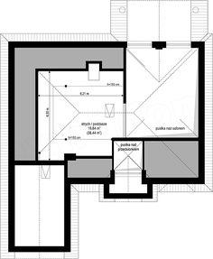 Projekt Dom na Parkowej 2 109,68 m2 - koszt budowy 188 tys. zł - EXTRADOM Floor Plans, Dom, House Design, Architecture, Houses, Arquitetura, Architecture Design, Architecture Design, House Plans