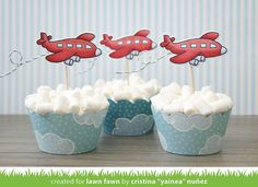 My Per Journey: Party plane cupcakes