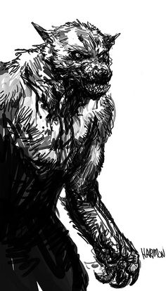 beast of gevaudan Fantasy Creatures, Mythical Creatures, Bark At The Moon, The Wolf Among Us, Werewolf Art, Vampires And Werewolves, Creatures Of The Night, Horror Art, Amazing Art