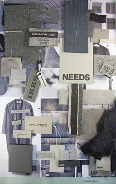 Transversal research, RECA GROUP MOODBOARD Research tools available for made-to-measure results  Moodboard, CASUALWEAR \FASHION