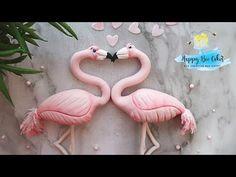 How to make a flamingo | Valetines day cake decorating - YouTube
