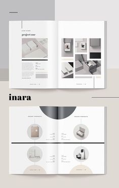 Proposal - Inara --- When you need to make a great first impression, a modern and elegant template like 'Inara' has you covered. A complete business proposal Portfolio Design Layouts, Layout Design, Graphisches Design, Page Design, Book Design, Layout Cv, Portfolio Examples, Print Design, Editorial Layout