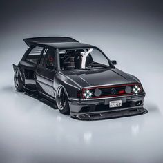This Volkswagen Golf GTI Widebody Is Going To Be Wild. Hardcore design will be made a reality. Volkswagen Golf Mk2, Golf Gti Mk2, Golf 4 R32, Vw R32, Volkswagen Beetles, Golf 1, Luxury Sports Cars, Vans Vw, Cb 1000