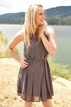 Sagebrush Flare Dress Grey