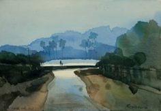 "Saatchi Art Artist prashant prabhu; Painting, ""Walk with dad to that far off place"" #art"