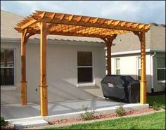 Red cedar pergola, could go off of pool house and over kitchen area. $1500 and up