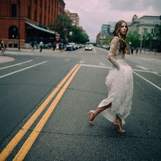 cool bride crossing