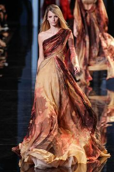 "Elie Saab ;;;; Might have worked for Katniss' ""Girl on Fire"" dress."