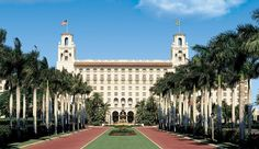 Historical and visited by celebrities and royalty, The Breakers Hotel, Palm Beach.