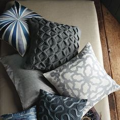 Sculpted Origami Pillow Cover on sale at West Elm. (There's a big sale on pillows check it out).