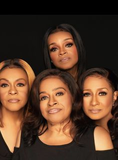 "The Clark Sisters are an iconic Grammy Award-winning gospel group who have world-renowned crossover hits including ""You Brought the Sunshine,"" Kierra Sheard, Karen Clark, My Black Is Beautiful, Godly Woman, Gospel Music, Christian Music, Celebrity Couples, Black Girl Magic, Good Music"