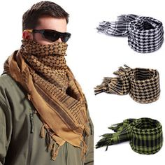 Military Shemagh Large Lightweight Arab Tactical Desert Keffiyeh Scarf Wrap  #Unbranded #Scarf