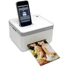 The iPhone Photo Printer - Hammacher Schlemmer. I would LOVE to purchase this if I upgrade to an iPhone! I love how you can also use it with an iPod Touch! Cube Photo, Photo Cubes, Gadgets And Gizmos, Tech Gadgets, Electronics Gadgets, Newest Gadgets, Iphone Gadgets, Technology Gadgets, Latest Technology