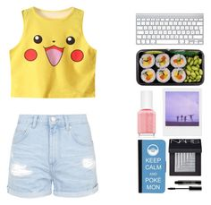 Pokemon style by fab1234565 on Polyvore featuring polyvore, fashion, style, Topshop, CellPowerCases, NARS Cosmetics, Lord & Berry and Essie