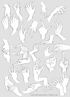 Hands Hands HANDS by MadLibbs on DeviantArt - therezepte sites Hand Drawing Reference, Anatomy Reference, Art Reference Poses, Anatomy Sketches, Anatomy Drawing, Inspiration Drawing, Hand Pose, Poses References, Digital Painting Tutorials