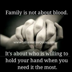 Family is not only about blood.sometime just people could just become a real family. Great Quotes, Quotes To Live By, Inspirational Quotes, Meaningful Quotes, Random Quotes, Motivational, Fabulous Quotes, Hurt Quotes, Clever Quotes