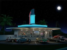 Diner 1950s by chevy.belair57, via Flickr