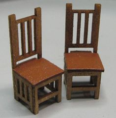 QS334 Mission Style Dining Chairs - $4.00 : Karen Cary's Miniatures, Quarter Scale Kits & Wicker Kits