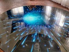 podłoga 3D z zatopionymi światłowodami