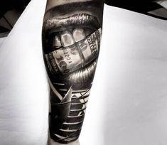 Money tattoo by Vasilii Suvorov