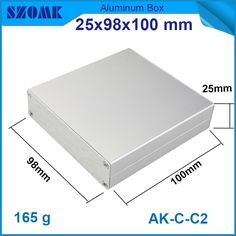 industrial enclosure aluminium case in silver color for LED sensor and wifi casing size fit 25(H)x98(W)x100(L)mm