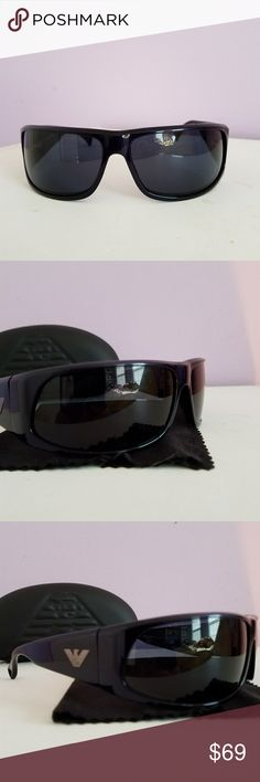 Mens Armani sunglasses Fantastic , NWOT, Armani polarized sunglasses. Stylish in a Deep Blue frame. Comes w case and cleaning cloth. Sorry, no trades. Armani Collezioni Other
