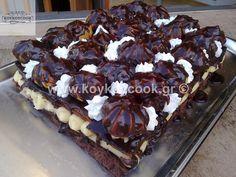 Απίθανη Τούρτα Σοκολάτα Προφιτερόλ! |