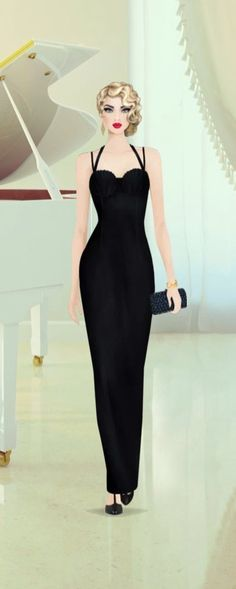 COVET FASHION: Retro Glam Fall Flashback look I created. Madison Harding - Kitty shoes; Olcay Gulsen - Velvet Maxi Gown; Kotur - Jb Renna clutch; Kara Ross - Ammonite Outline Cuff; and The Harbinger Co. - Triangle Earrings