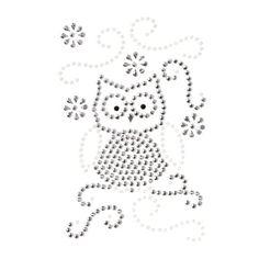 Schmuck-Sticker, Eulen, selbstklebend, 1 Bogen, 9,5x14cm
