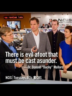 "The wise Dr. Donald ""Ducky"" Mallard"
