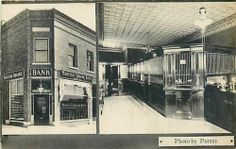 MI, Grand Rapids, Michigan, RPPC, Madison Square Bank, Interior, Putney Photo