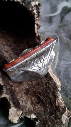 Antieke zilveren ring, maat 16.5 mm