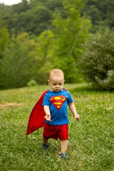 Superman Costume for a Toddler - Jax will have this soon!! Lol love it!