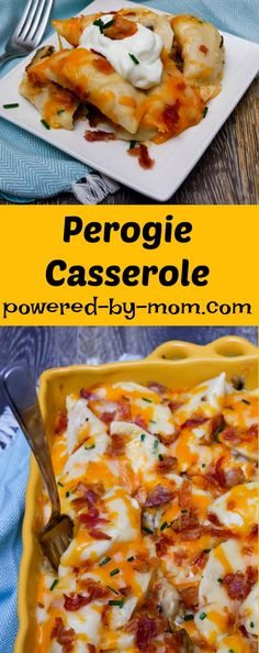 Perogie Casserole - Powered By Mom It's no surprise that bacon is a perfect addition to any meal, but it's especially delicious in this Perogie Casserole! I love this recipe because it has bacon (of… Healthy Comfort Food, Best Comfort Food, Comfort Food Recipes, Bacon Chocolate Chip Cookies, Cooking Recipes, Healthy Recipes, Pasta Recipes, Cheesy Recipes, Kraft Recipes
