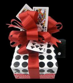 Gift Wrapping a Packaging | Great Masculine Gift Wrap or for the ladies who love bridge.