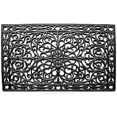 Renaissance Rectangle Rubber Door Mat (30x48) Overstock