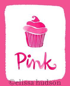 Pared arte impresión Color serie rosa Magdalena